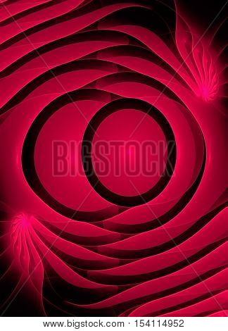 Abstract fractal computer generated image in red shades