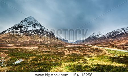 Beautiful View Of The Glencoe In Winter