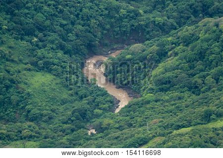 Aerial View Of The Rain Forest