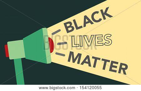 Black Lives Matter Illustration with Megaphone Loudspeaker