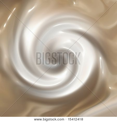 Whipped Cream On Coffee Or Hot Chocolate