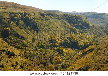 Picturesque Canyon In The North Caucasus