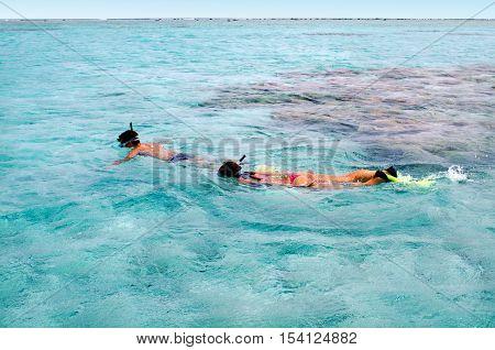 Snorkeling In Aitutaki Lagoon Cook Islands