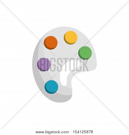 paint pallete isolated icon vector illustration design