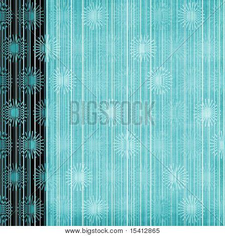 Floral Elements And Stripes Large Grunge Background