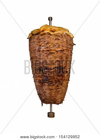 Middle Eastern Grilled Lamb Shawarma Meat Isolated