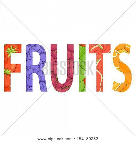 creative inscription of juicy fresh fruit