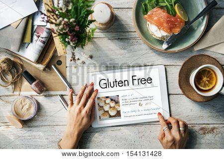 Gluten Free Celiac Disease Concept