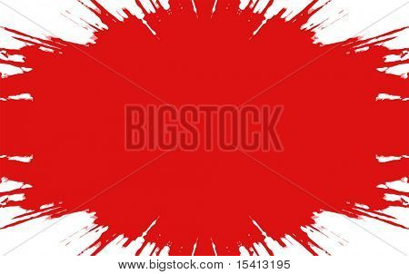 Vector Big Red Splatter, See Jpeg Also In My Portfolio