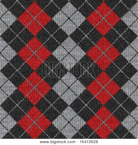 Seamless Argyle Sweater Background, Realistic and Detailed. See Vector Also In My Portfolio