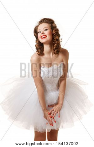 Pin-up bride. Professional make-up hair and style