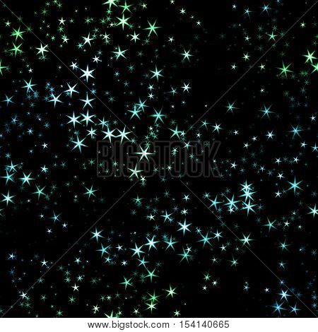 Star Night Sky, Abstract Cosmic Cristmas Seamless Background Illustration