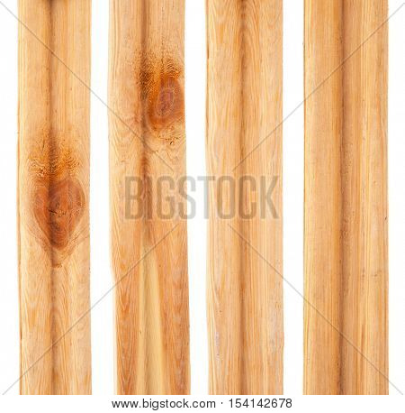 Pieces of pine slats
