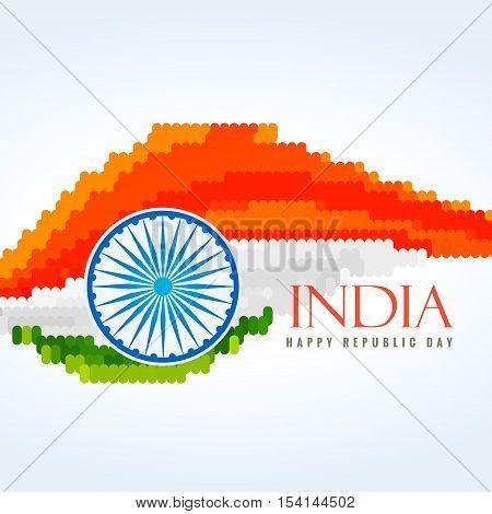 Flag Of India Creative Vector Design Illustration