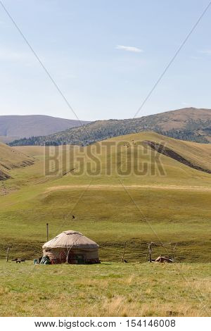 Yurt In The Mountains Of Trans-ili Alatau