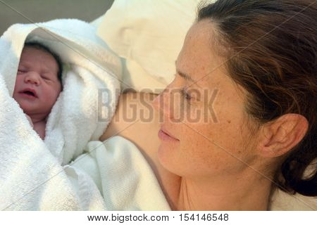 Pregnancy - Pregnant Woman And Newborn