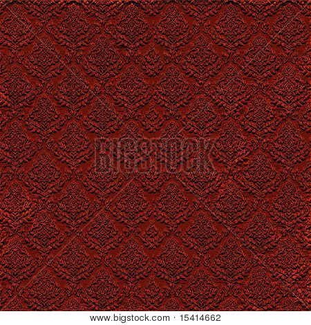 XL Dark Red Seamless Damask