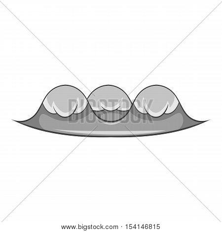 Foamy wave icon. Cartoon illustration of foamy wave vector icon for web