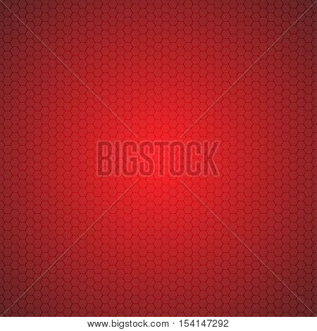 Mosaic Tile Honeycomb Vector Background. Comb Halftone Fone. Red Background. Vector illustration for Web Design.