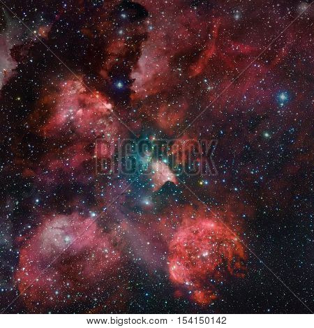 The Cat's Paw Nebula In Space.