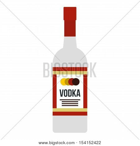 Vodka icon. Flat illustration of vodka vector icon for web