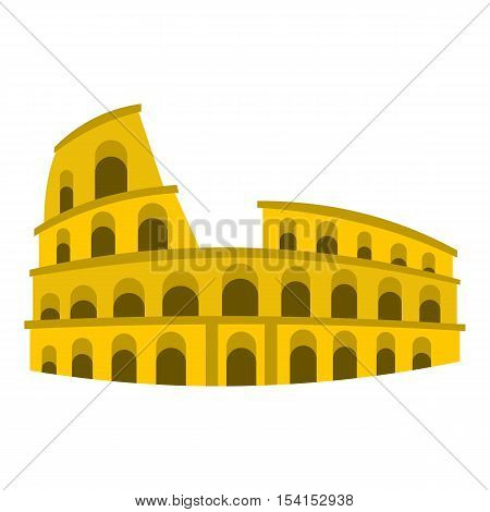 Coliseum icon. Flat illustration of coliseum vector icon for web