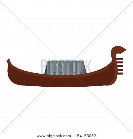 Gondola icon. Flat illustration of gondola vector icon for web