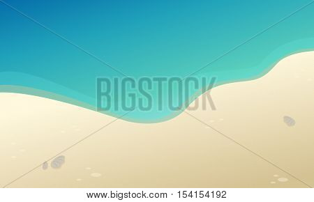 Beautiful landscape beach collection stock vector illustration