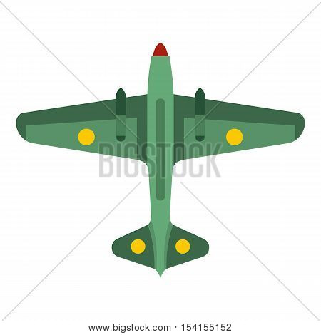 Army fighter icon. Flat illustration of army fighter vector icon for web