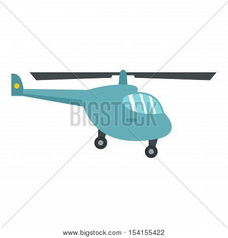 Small helicopter icon. Flat illustration of small helicopter vector icon for web