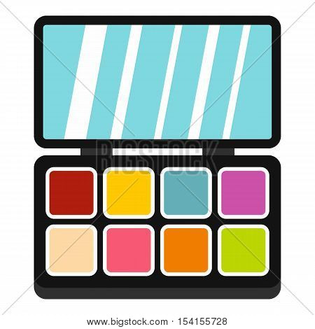 Palette eye shadow icon. Flat illustration of palette eye shadow vector icon for web