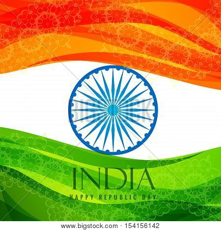 Indian Flag Poster Template Vector Design Illustration