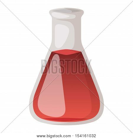 Chemical laboratory vector lab flask glassware tube liquid biotechnology analysis. Lab flask tubes medical scientific equipment. Chemistry experiment research test science glass lab flask.