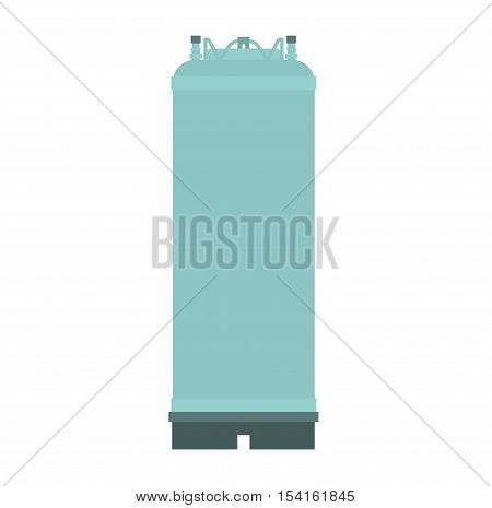 Container liquid cask storage object. Brel capacity tank vector isolated.