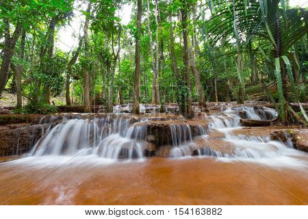 The national park Pa-Chareon waterfall in Tak Thailand