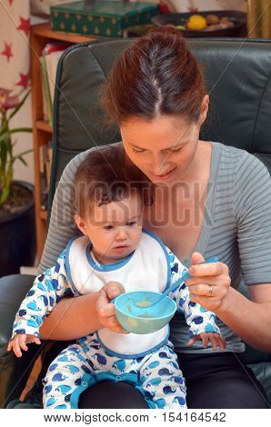 Baby Eating Food For The First Time
