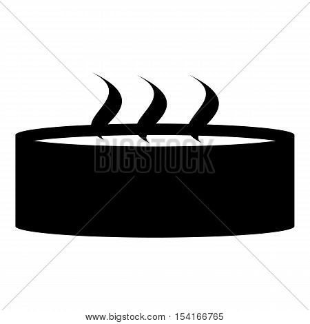 Candle with three wicks icon. Simple illustration of candle with three wicks vector icon for web