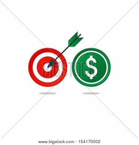 Flat design vector illustration. Finance theme concept