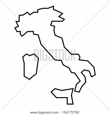 Map Of Italy Outline.Map Italy Icon Vector Photo Free Trial Bigstock