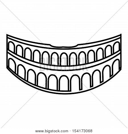 Colosseum in Rome icon. Outline illustration of Colosseum in Rome vector icon for web