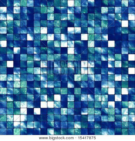 XL Seamless Blue Tiles Background