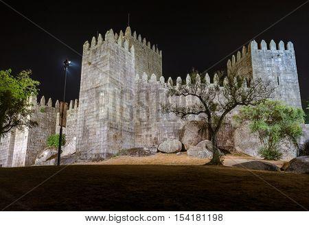 Castle in town Guimaraes - Portugal - architecture background