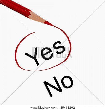 Vector Pencil With Yes And No, Also See Jpeg In My Portfolio