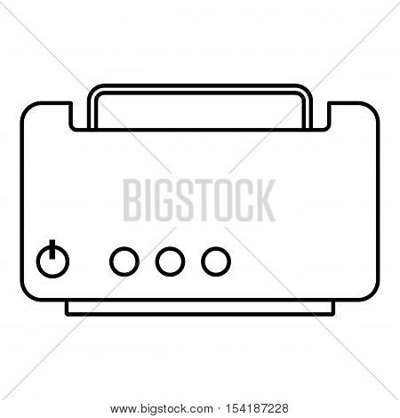 Toaster icon. Outline illustration of toaster vector icon for web