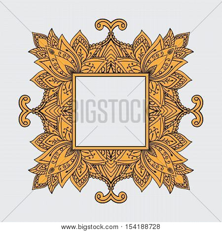 Elegant Ornaments Lace Mandala. Ancient decorative ornament pattern. Hand-drawn Islam, Arabic, Indian, ottoman motifs, lace pendant, greeting cards, wedding invitation, creative template, vector