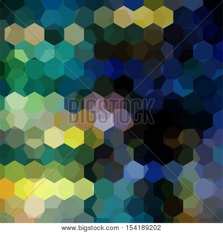 Abstract Hexagons Vector Background. Dark Geometric Vector Illustration. Creative Design Template. B