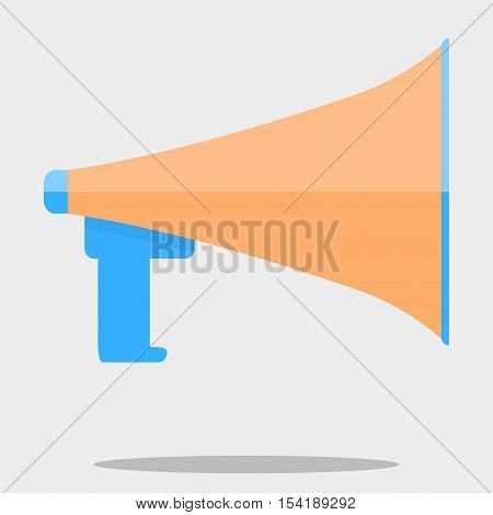 Megafone isolated vector. Megaphone icon speaker for announcement megafone communication illustration