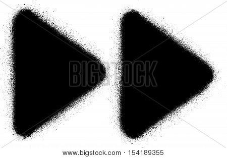fast forward media graffiti spray icon in black over white