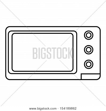 Microwave icon. Outline illustration of microwave vector icon for web