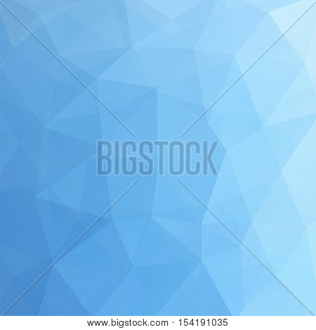 Abstract Geometric Style Blue Background. Vector Illustration